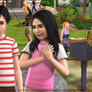 Маленькие Белла и Мортимер в <i>The Sims 3</i>.