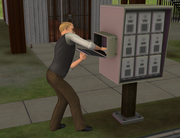 Landlord collecting rent