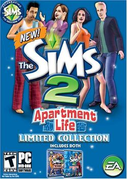 The Sims 2 Apartment Life Limited Collection Cover