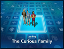 Loading screen of Curious family