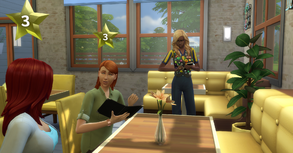 TS4 Waiter taking orders