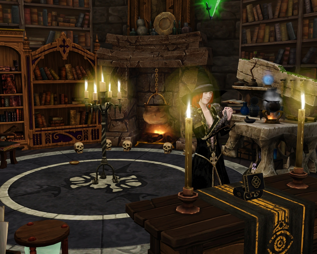 Victorian Canopy Bed Image Sorceress In Wizard S Tower Jpg The Sims Wiki