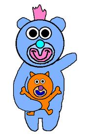 Light blue with orange kitten sing a ma jig duet