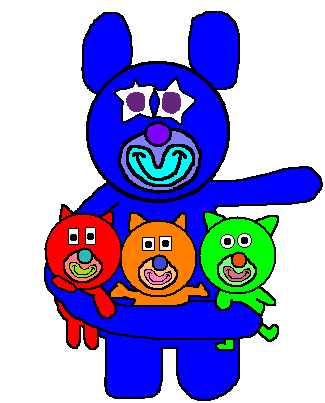 File:Blue with red, orange and green kitties (Prototype).png