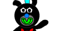 Black with Red Bunny