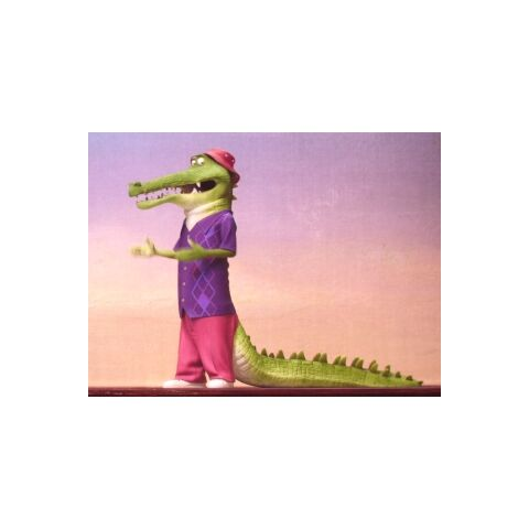 The crocodile auditions to be a part of the singing competition while also doing