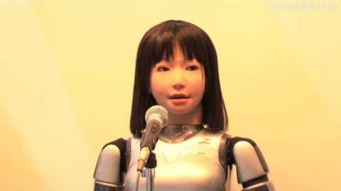 Yamaha singing robot using VOCALOID speech synthesis software DigInfo