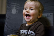 Laughing baby leo