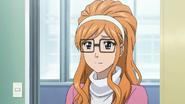 Momoka with glasses