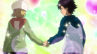 Hime and Bossun holding hands