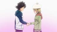 Hime and Bossun's handshake