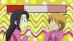 Kanae and Kyoko almost laughing