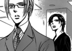 Ren and yashiro looks at the tv