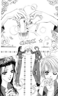 Kyoko and Kanae doing the commercial audition in manga