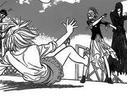 Setsu throws manaka down