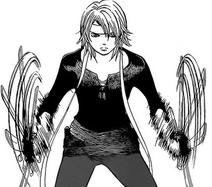 Kyoko dramatically spins her blades in momiji test