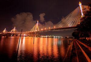 Bhumibol Bridge (สะพานภูมิพล) - Bangkok