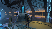 Skyforge training entrance pod at Research Center