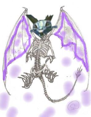 Dragon skeleton sketch 3