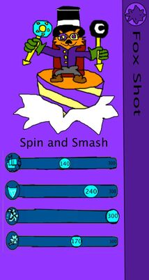 Skylanders triple fighters fox shot card