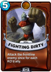 Fighting Dirtycard