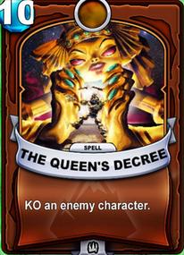 The Queen's Decreecard