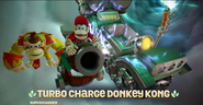 Donkey Kong and Diddy Kong in Barrel Blaster