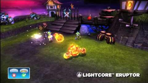 Meet the Skylanders LightCore Eruptor
