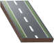 Two-lane road with bicycle lanes