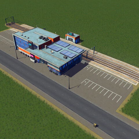 In-game train station