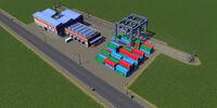 Cargo train terminal