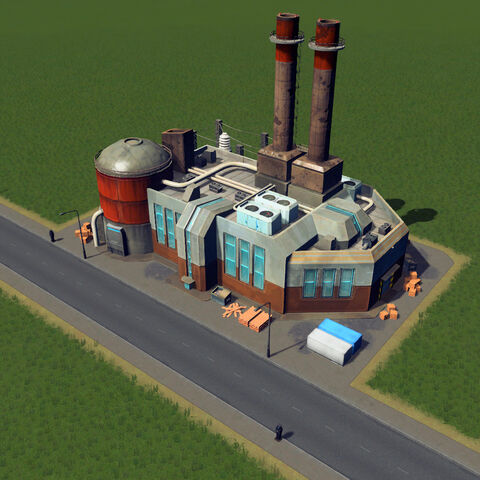 In-game oil power plant