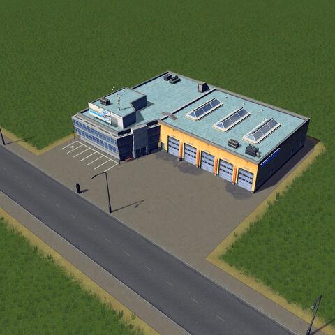 In-game bus depot