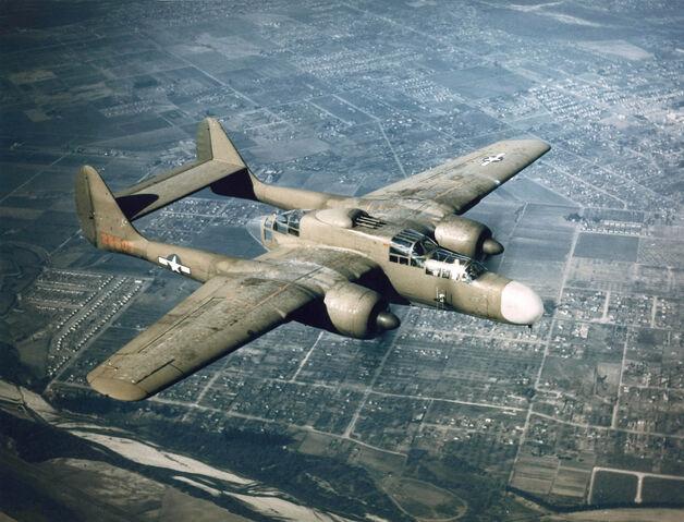 File:Northrop P-61 green airborne.jpg
