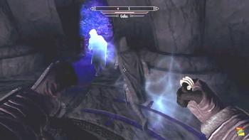 Karliah attacking ghost Gallus