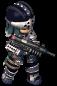 Black-Clad Soldier (Gun) FC Battle Stance