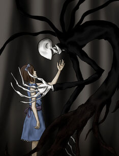 Slenderman and girl by ninjadragon3-d5jg696