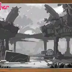 Concept art for some ruins