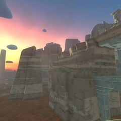 The first teaser in The Glass Desert demonstrating the new skybox effect.