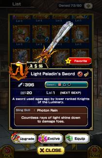 Light Paladin's Sword