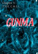 Gunma comic series the call title card