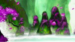 TheFalloftheEasternChampion(17) - Yang Discovers Peach Blossom Spring Cavern