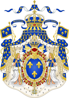 424px-Grand Royal Coat of Arms of France svg