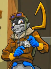 Sly's ACCES pilot disguise cutscene