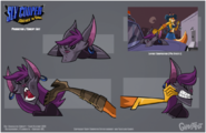 Sly 4 production art bat criminal design by tigerhawk01-d6gd0yd