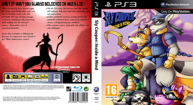 Sly cooper inside a mind ps3 cover by kaylathedragoness-d6p7pgf