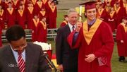 Clark gets his diploma
