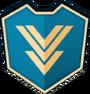 Emblem - Blue Inverted Chevrons