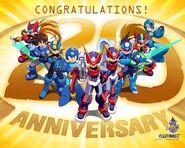 Toon megaman congratulations