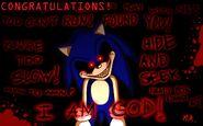 Sonic.exe congratulations